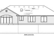 Traditional Style House Plan - 3 Beds 2.5 Baths 2163 Sq/Ft Plan #100-103 Exterior - Rear Elevation