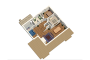 Cabin Style House Plan - 3 Beds 1 Baths 3256 Sq/Ft Plan #25-4737 Floor Plan - Lower Floor Plan