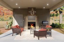 Dream House Plan - Traditional Exterior - Outdoor Living Plan #1060-94