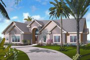 Mediterranean Style House Plan - 3 Beds 2.5 Baths 2225 Sq/Ft Plan #23-2211 Exterior - Front Elevation