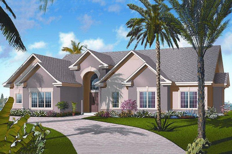 Dream House Plan - Mediterranean style elevation