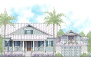 Cottage Style House Plan - 4 Beds 3 Baths 2483 Sq/Ft Plan #938-87 Exterior - Front Elevation