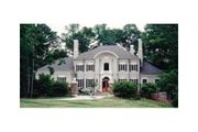 European Style House Plan - 4 Beds 3.5 Baths 5235 Sq/Ft Plan #429-9 Exterior - Other Elevation