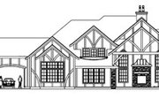 Tudor Style House Plan - 3 Beds 2.5 Baths 5024 Sq/Ft Plan #124-748 Exterior - Rear Elevation