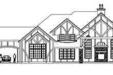 Tudor Exterior - Rear Elevation Plan #124-748