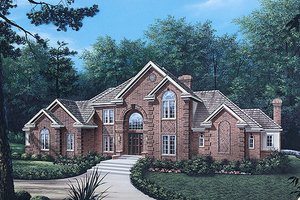 European Exterior - Front Elevation Plan #57-110