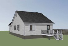 Cottage Exterior - Rear Elevation Plan #79-137