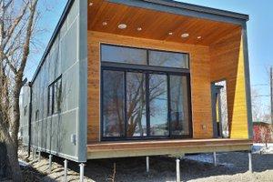 Modern Cottage designed home, front elevation photo