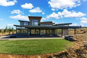Contemporary Style House Plan - 4 Beds 4.5 Baths 4021 Sq/Ft Plan #892-30 Exterior - Rear Elevation
