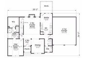 Traditional Style House Plan - 3 Beds 2.5 Baths 1721 Sq/Ft Plan #419-160 Floor Plan - Main Floor