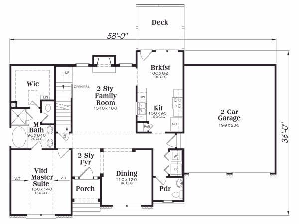 Traditional Floor Plan - Main Floor Plan #419-160