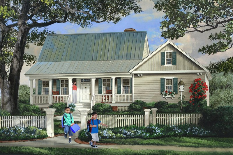 Country Style House Plan - 3 Beds 2.5 Baths 1764 Sq/Ft Plan #137-278 Exterior - Front Elevation