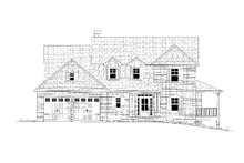 Craftsman Exterior - Front Elevation Plan #437-119
