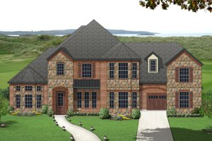 European Exterior - Front Elevation Plan #84-430