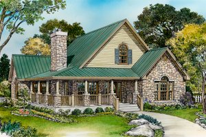 Country Exterior - Front Elevation Plan #140-154