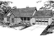 Traditional Style House Plan - 3 Beds 2 Baths 1638 Sq/Ft Plan #322-119 Exterior - Front Elevation