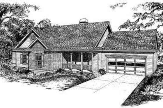 Traditional Exterior - Front Elevation Plan #322-119