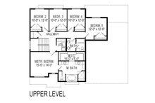 Craftsman Floor Plan - Upper Floor Plan Plan #920-75
