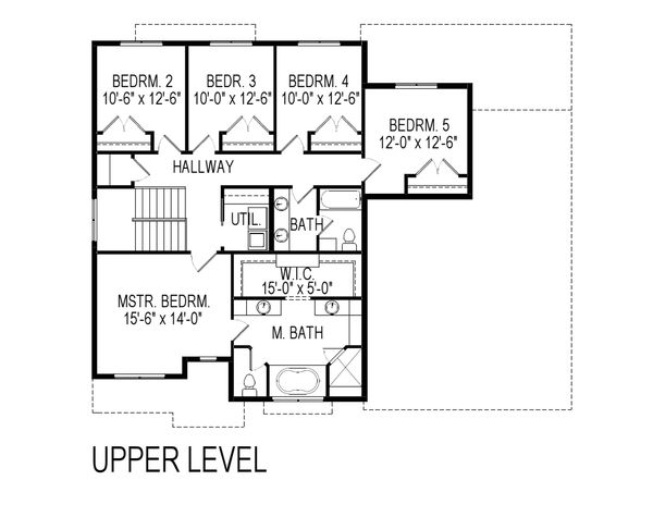 Craftsman Floor Plan - Upper Floor Plan Plan #920-75