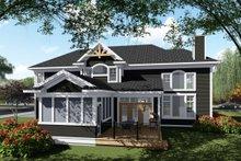 Craftsman Exterior - Rear Elevation Plan #70-1432
