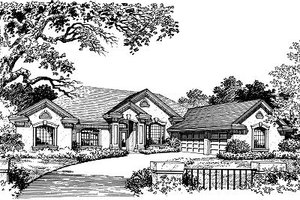 European Exterior - Front Elevation Plan #417-330