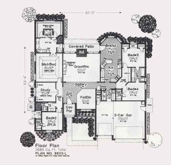 Colonial Floor Plan - Main Floor Plan Plan #310-854