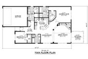 Traditional Style House Plan - 2 Beds 2 Baths 1723 Sq/Ft Plan #51-245 Floor Plan - Main Floor Plan