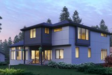 House Plan Design - European Exterior - Rear Elevation Plan #1066-74