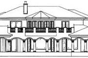 Mediterranean Style House Plan - 5 Beds 6.5 Baths 7123 Sq/Ft Plan #27-275 Exterior - Rear Elevation