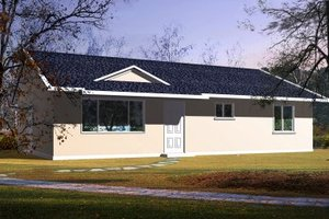 Ranch Exterior - Front Elevation Plan #1-158