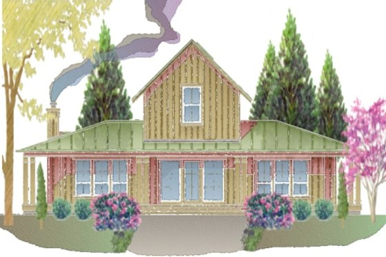 Farmhouse Exterior - Front Elevation Plan #487-7