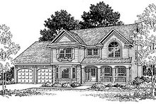 Traditional Exterior - Front Elevation Plan #70-308