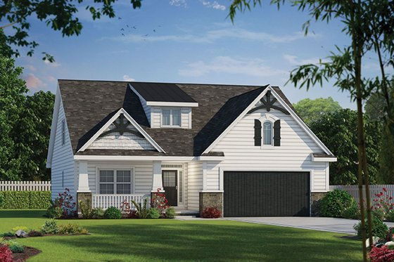 Cottage Exterior - Front Elevation Plan #20-2315