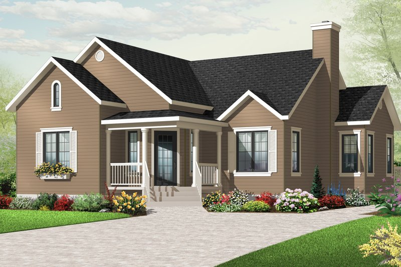Home Plan - Country Exterior - Front Elevation Plan #23-2380