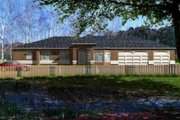 Ranch Style House Plan - 4 Beds 3 Baths 2769 Sq/Ft Plan #1-1193 Exterior - Front Elevation