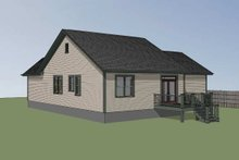 Country Exterior - Rear Elevation Plan #79-164