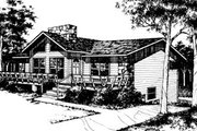 Ranch Style House Plan - 3 Beds 2 Baths 1538 Sq/Ft Plan #10-225 Exterior - Front Elevation