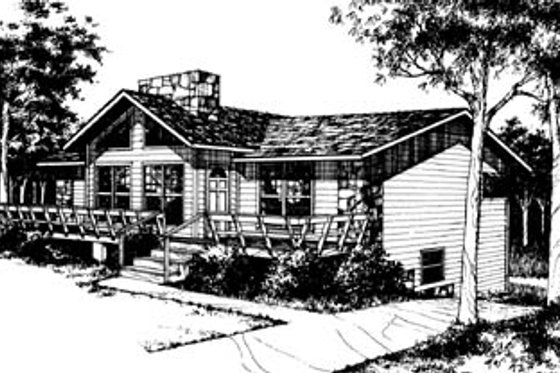 Ranch Exterior - Front Elevation Plan #10-225