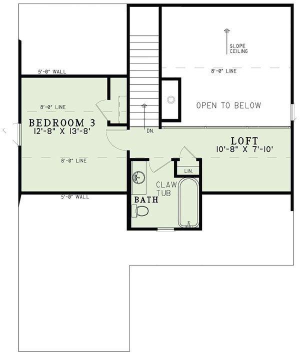 Country Floor Plan - Upper Floor Plan Plan #17-2534