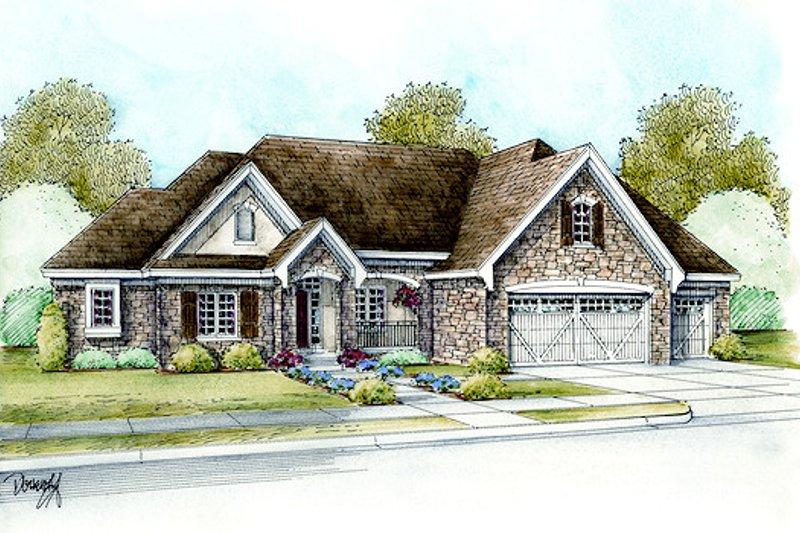 Dream House Plan - European Exterior - Front Elevation Plan #20-2065