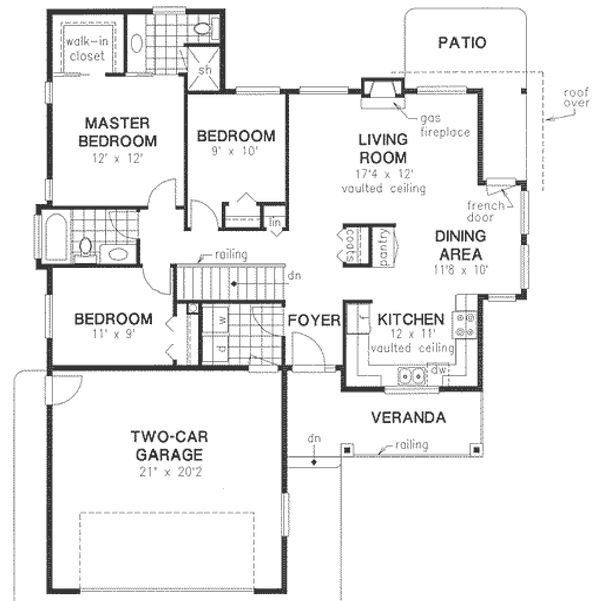 Craftsman Floor Plan - Main Floor Plan Plan #18-1025