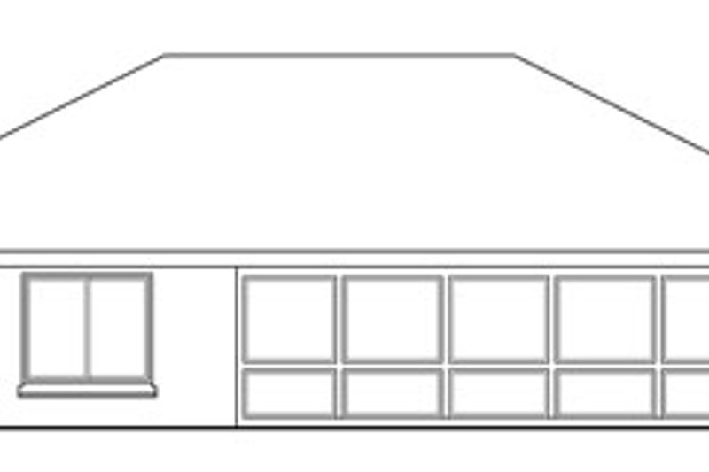 Traditional Exterior - Rear Elevation Plan #124-734 - Houseplans.com