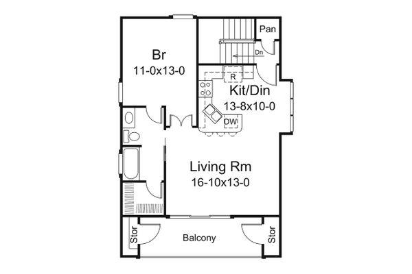 Dream House Plan - Mediterranean Floor Plan - Upper Floor Plan #57-698