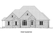 European Style House Plan - 4 Beds 4 Baths 2697 Sq/Ft Plan #437-48 Exterior - Other Elevation