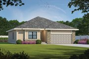 Traditional Style House Plan - 3 Beds 2 Baths 1603 Sq/Ft Plan #20-2350 Exterior - Front Elevation