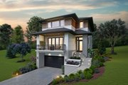 Contemporary Style House Plan - 3 Beds 2.5 Baths 2498 Sq/Ft Plan #48-991 Exterior - Front Elevation
