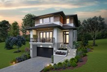House Plan Design - Contemporary Exterior - Front Elevation Plan #48-991