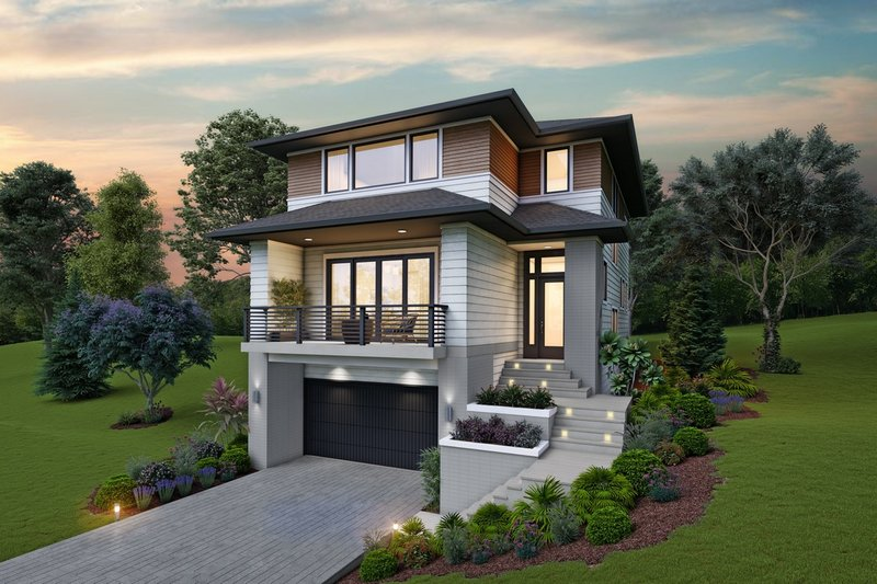 Home Plan - Contemporary Exterior - Front Elevation Plan #48-991