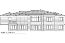Prairie Exterior - Rear Elevation Plan #70-1005