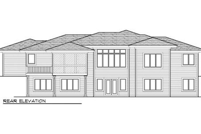 Prairie Exterior - Rear Elevation Plan #70-1005 - Houseplans.com
